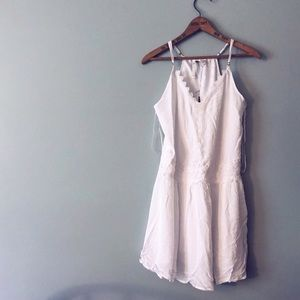 NWT LC Lauren Conrad White Dress Lace Detail